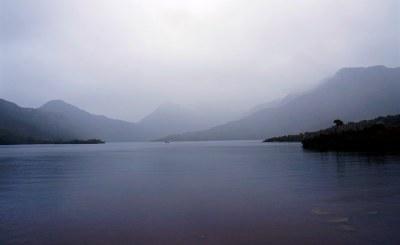 Cradle Mountain in the rain #marineexplorer