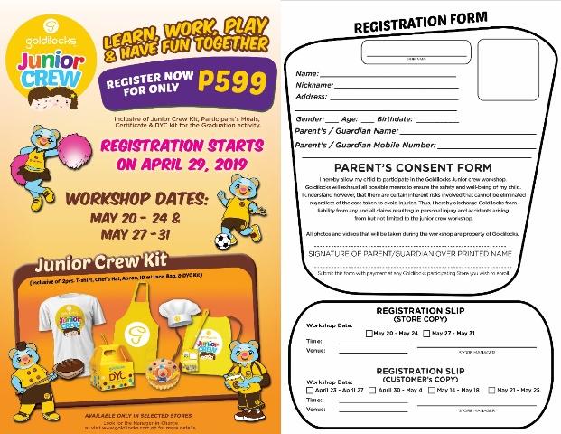 Goldilocks Junior Crew Registration