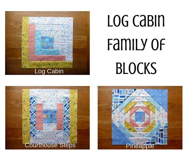 Log Cabin Family of Blocks