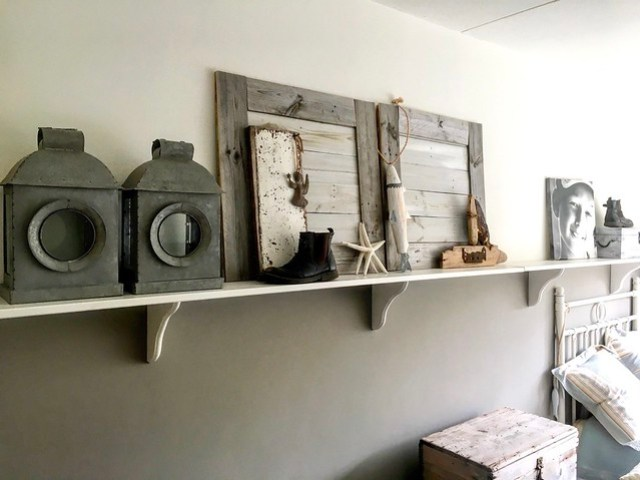 Fotoplank landelijke slaapkamer