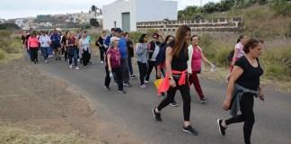 Los peregrinos llegaron a los pies de Santa Rita en Anzo