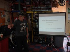 Bill Mould is talking wheel building #recyclerycollective