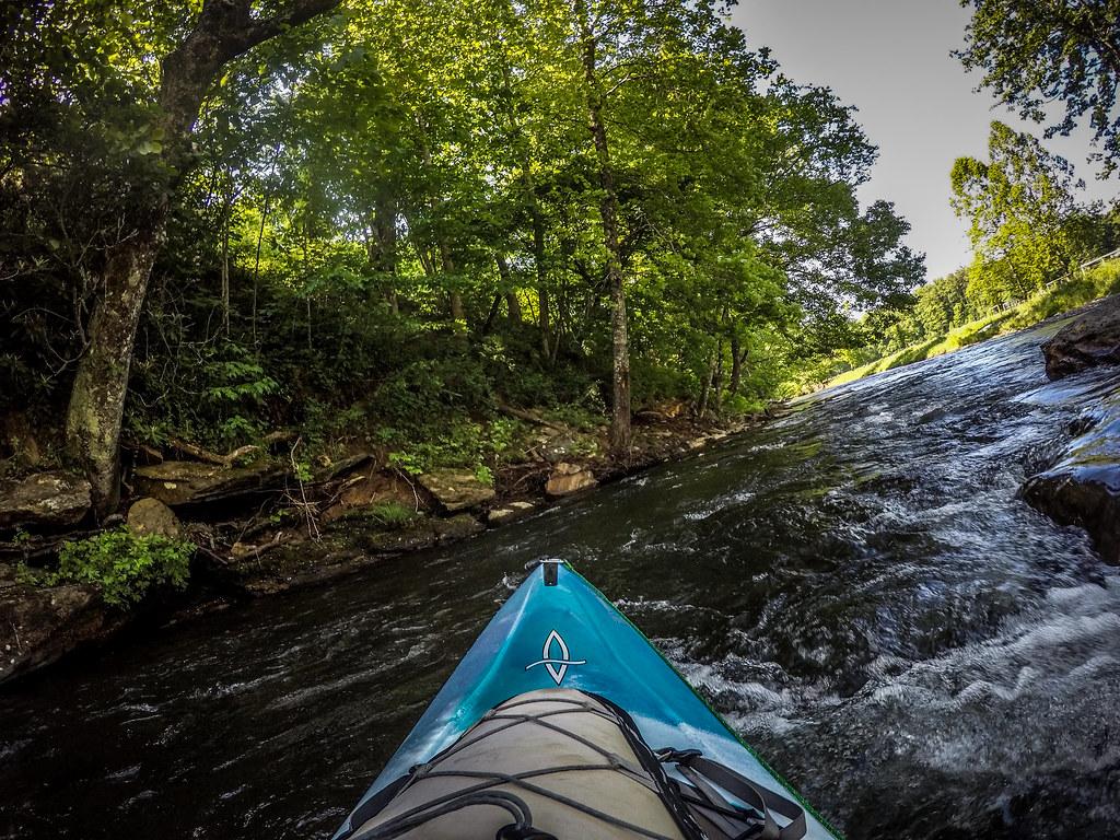 Paddling the North Toe River-16