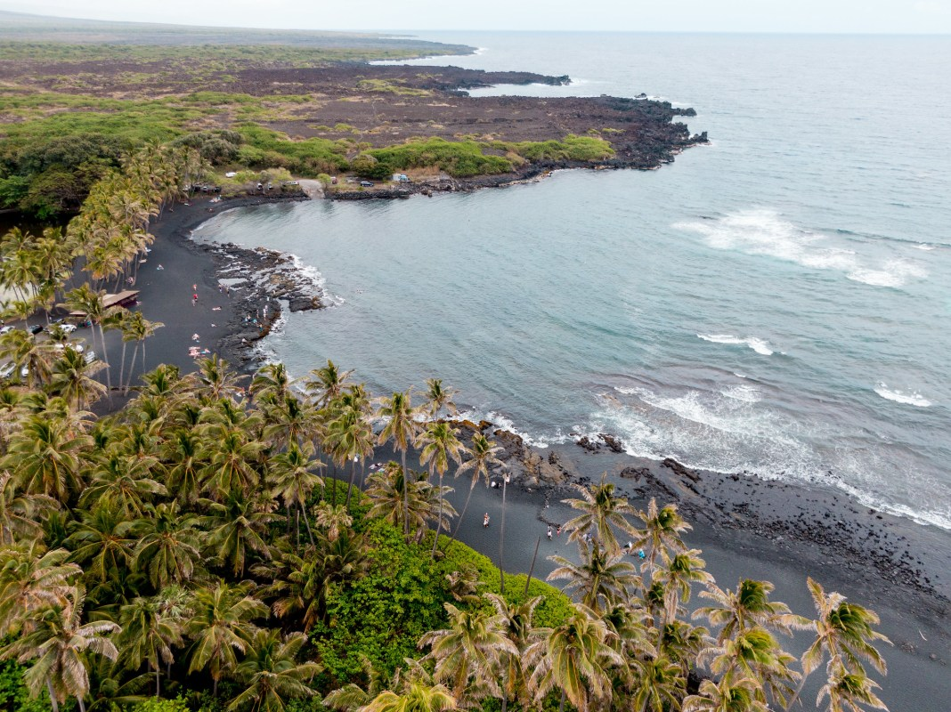 Punaluu Black Sand Beach - Big Island, Hawaii