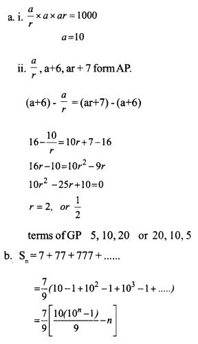HSSlive Plus One Maths Chapter Wise Questions and Answers Chapter 9 Sequences and Series 26