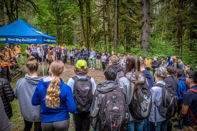 Tahoma High volunteering at Taylor Mountain