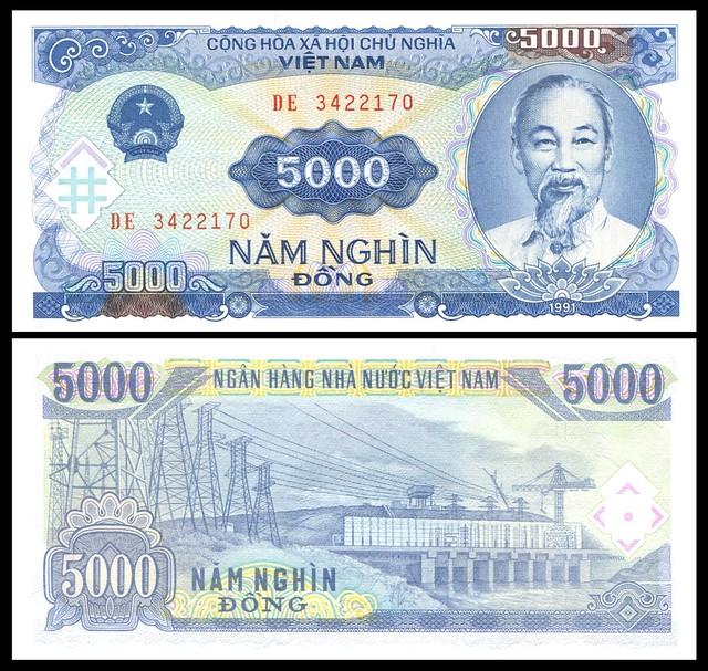 Viet Nam - PN# 108a, 1991; 5000 Dong  [UNC]