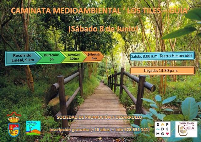 'Los Tiles-Guía' es el recorrido de la 8ª Caminata Medioambiental organizada por el Ayuntamiento para el próximo 8 de junio
