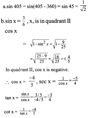 HSSlive Plus One Maths Chapter Wise Previous Questions Chapter 3 Trigonometric Functions 5
