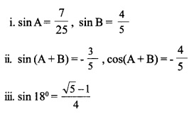 HSSlive Plus One Maths Chapter Wise Previous Questions Chapter 3 Trigonometric Functions 43