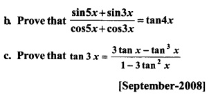 HSSlive Plus One Maths Chapter Wise Previous Questions Chapter 3 Trigonometric Functions 52