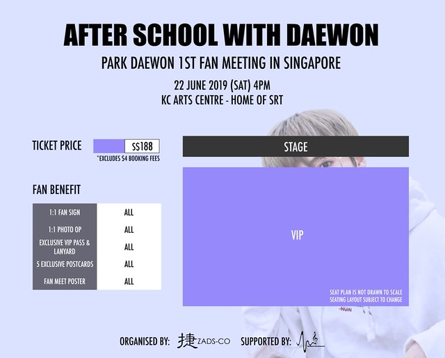 Park Daewon in Singapore Seating Plan