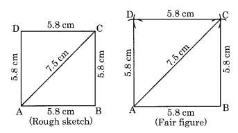Practical Geometry NCERT Extra Questions for Class 8 Maths Q4