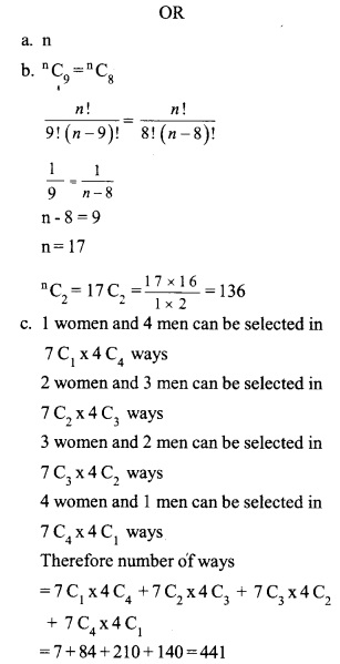 HSSlive Plus One Maths Chapter Wise Previous Questions Chapter 7 Permutation and Combinations 7
