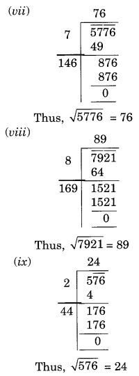 NCERT Solutions for Class 8 Maths Squares and Square Roots Ex 6.4 Q1.2