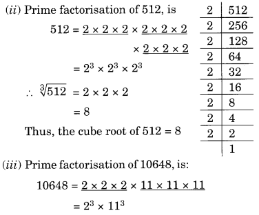 NCERT Solutions for Class 8 Maths Chapter 7 Cubes and Cube