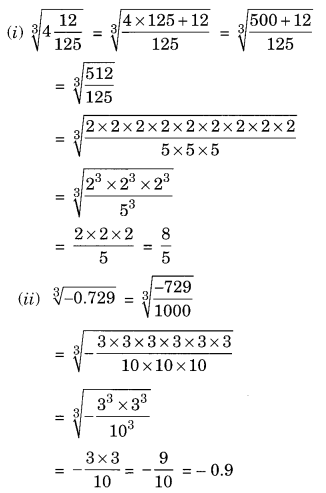 Cubes and Cube Roots NCERT Extra Questions for Class 8 Maths Q12