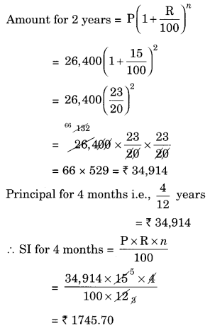 NCERT Solutions for Class 8 Maths Chapter 8 Comparing Quantities Ex 8.3 Q2