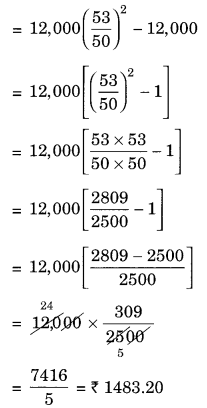 NCERT Solutions for Class 8 Maths Chapter 8 Comparing Quantities Ex 8.3 Q4.1