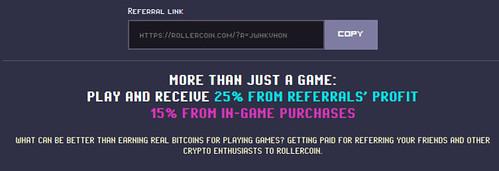 Referidos en RollerCoin