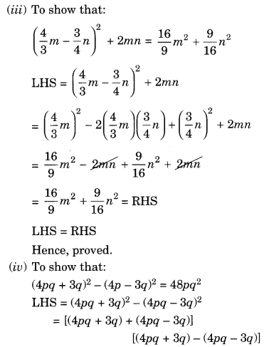 NCERT Solutions for Class 8 Maths Algebraic Expressions and Identities Ex 9.5 Q5.1