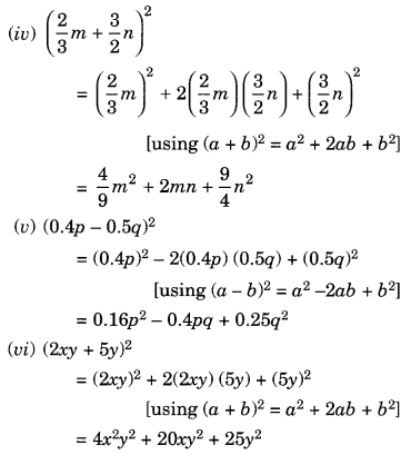 NCERT Solutions for Class 8 Maths Algebraic Expressions and Identities Ex 9.5 Q3.1