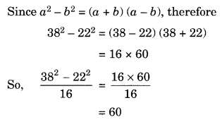 Algebraic Expressions and Identities NCERT Extra Questions for Class 8 Maths Q19