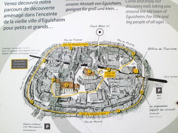 Mapa de Eguisheim