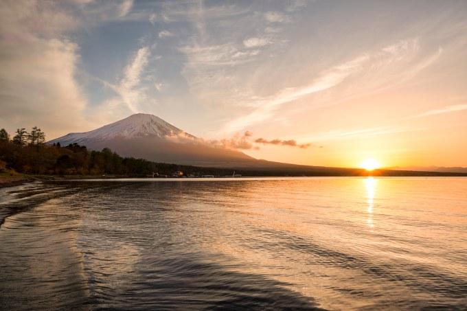 Lake Yamanaka at Sunset
