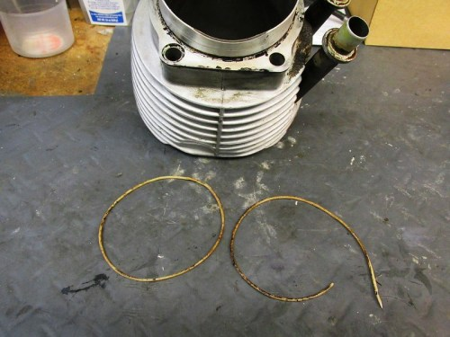 Cylinder Base O-rings-Right One was Broken Allowing Oil Leak At the Base
