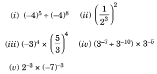 NCERT Solutions for Class 8 Maths Chapter 12 Exponents and Powers Q2