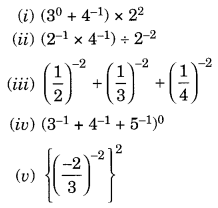 NCERT Solutions for Class 8 Maths Chapter 12 Exponents and Powers Q3