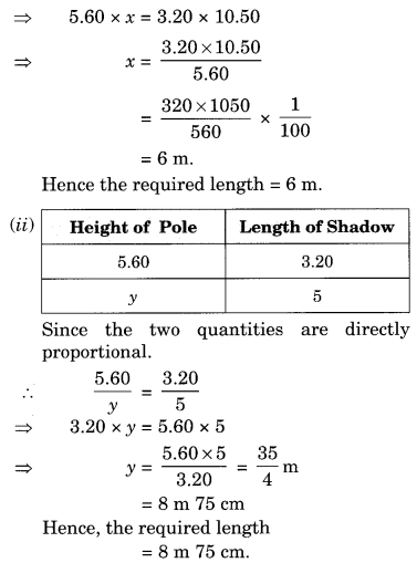 NCERT Solutions for Class 8 Maths Chapter 13 Direct and Inverse Proportions Q9.1