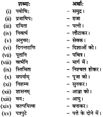 RBSE Solutions for Class 12 Sanskrit विजेत्र Chapter 7 नन्दिनीकथा 9