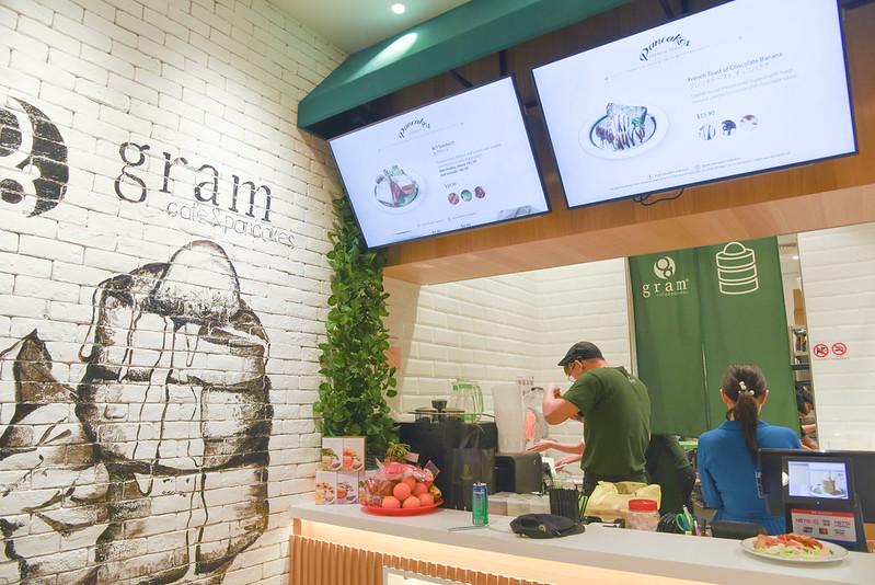 gram cafe and pancakes interior - vivocity