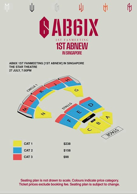 AB6IX 1st Fan Meeting '1ST ABNEW' in Singapore Seating Plan