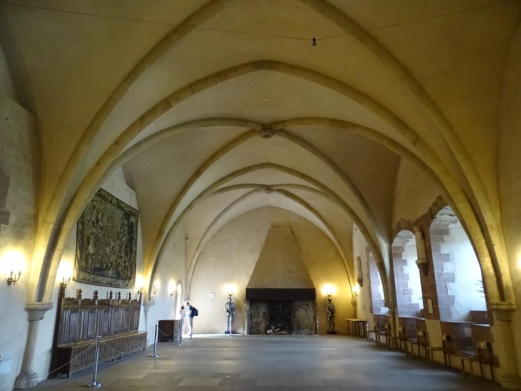 vista Salon de los Caballeros interior Castillo de Vianden Luxemburgo
