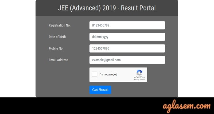 JEE Advanced 2019 Result Portal