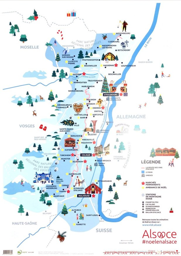 Mapa de viaje para Alsacia en 5 días