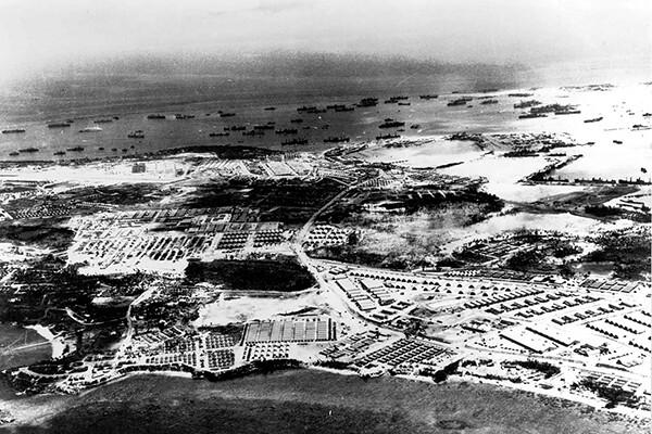 Aerial of Guam, 1944
