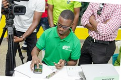 Scenes from the launch of NIS Payment App.