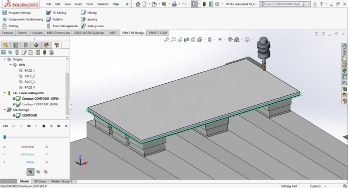 Working with EFICAD SWOOD 2019 SP0 for SolidWorks 2019 full license