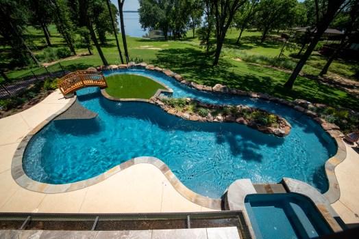 Allison Pools - Lazy River Swimming Pool