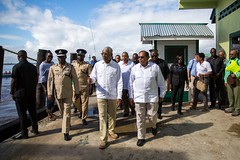 Prime Minister, Hon. Moses Nagamootoo and President David Granger.