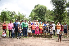 - Minister of Indigenous Peoples' Affairs, Hon. Sydney Allicock, Regional Executive Officer (REO) Region 2, Dennis Jaikran and Toshao Howard Cornelius along with residents of Wakapoa.