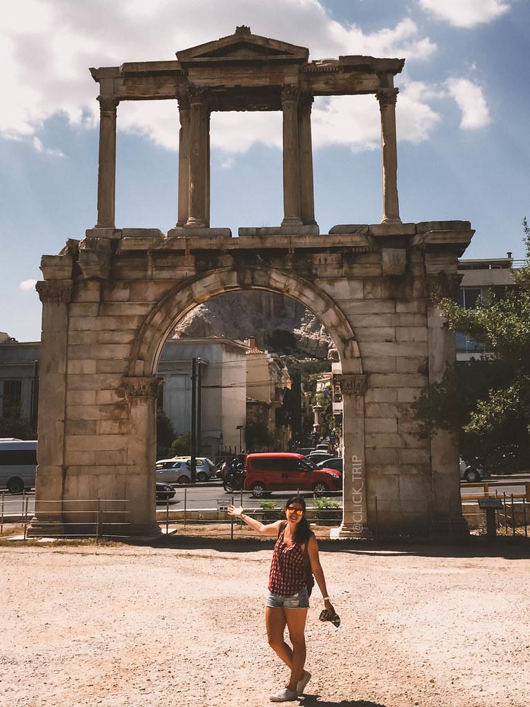 · Puerta de Adriano · Ruta por Grecia ·