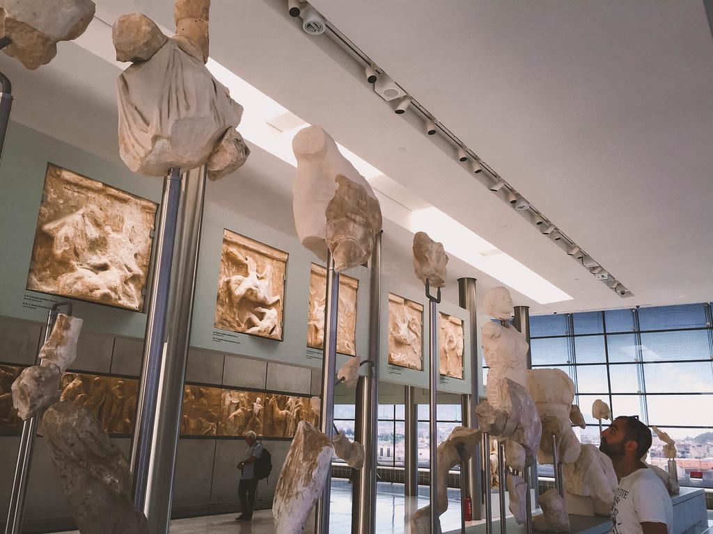 · Nivel dedicado al Partenón en el Museo de la Acrópolis de Atenas ·
