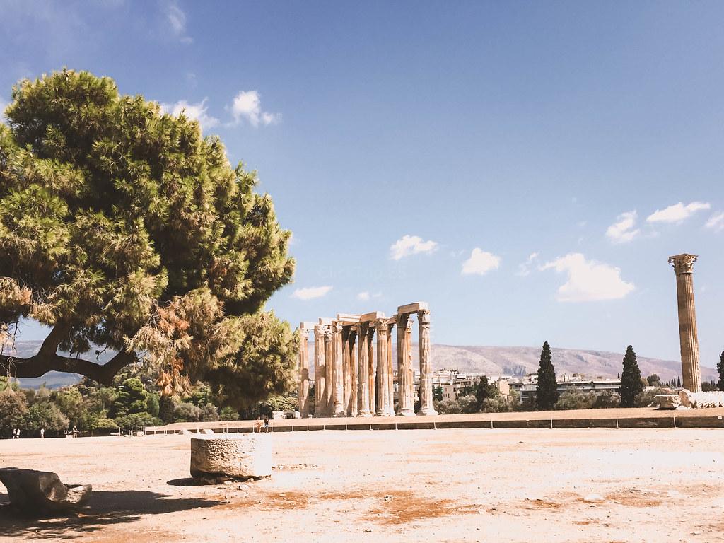 · Templo de Zeus · Ruta por Grecia ·