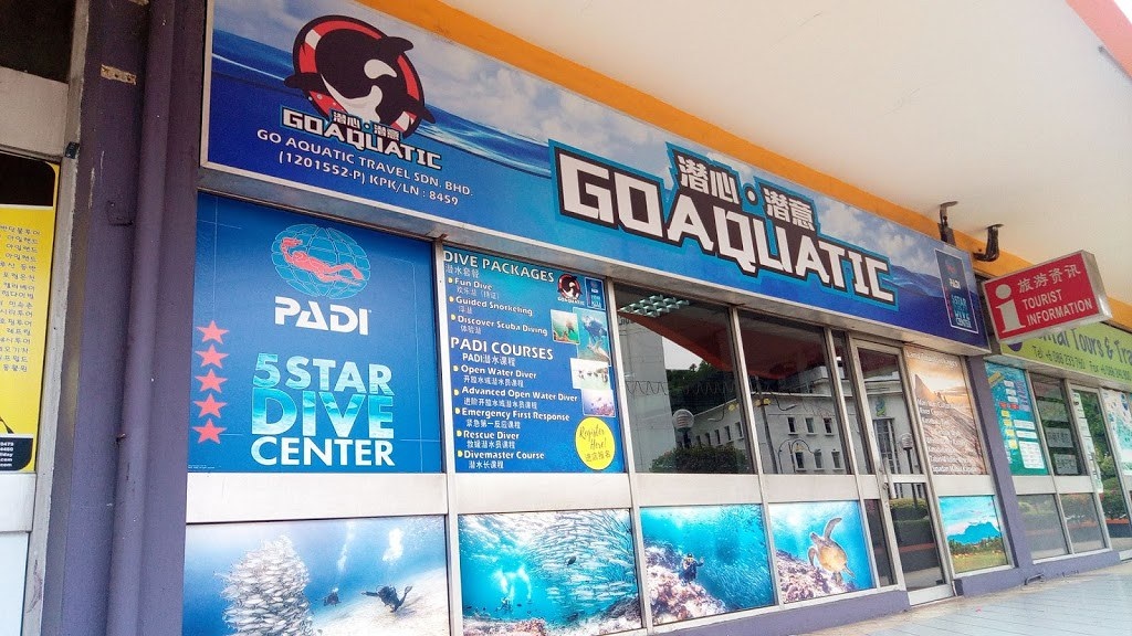 Go Aquatic office in Wisma Sabah