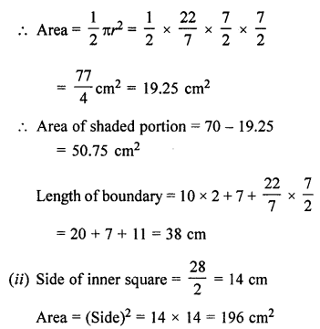 ML Aggarwal Class 7 Solutions for ICSE Maths Chapter 16 Perimeter and Area Ex 16.3 Q19.2